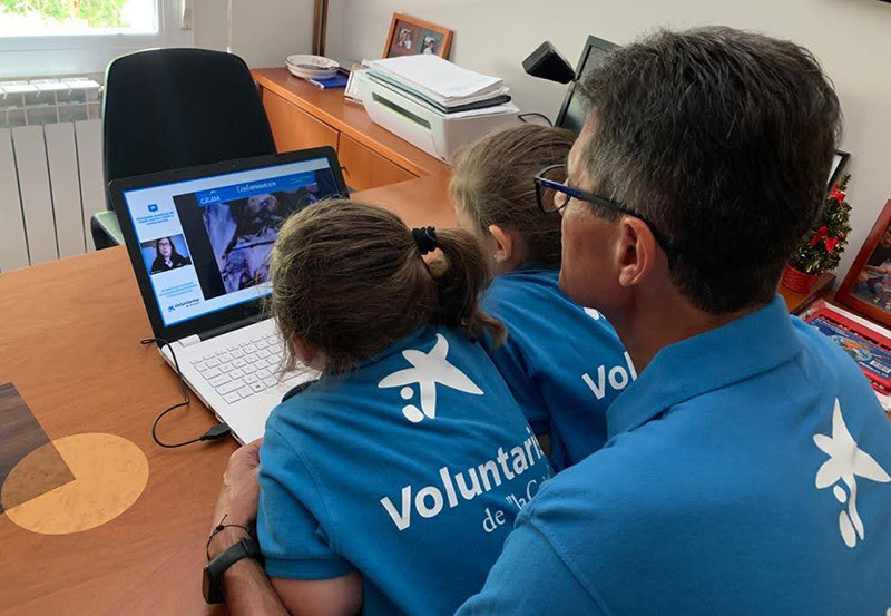 El Día del Voluntario Digital, ilusión compartida a distancia
